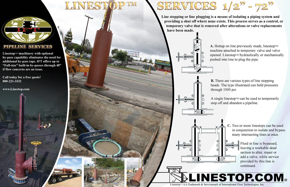 Linestop, Pipe Plugging and Stopple Procedures