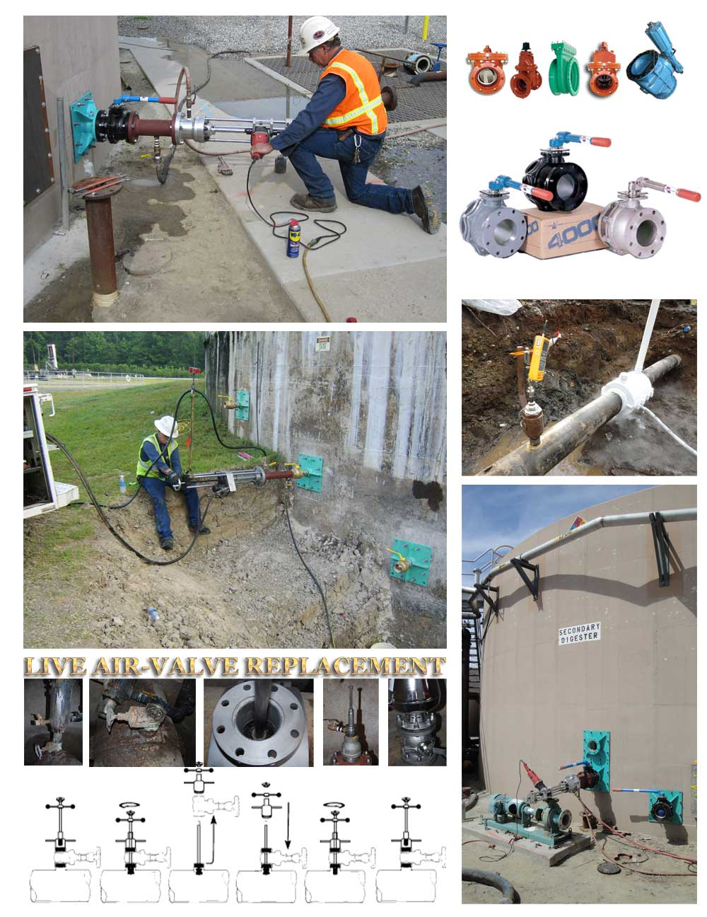 Live Air Valve and other valve installations service Job Collage